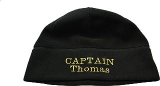 MOTIVEX Capitano Berretto Captain Skipper ect Personalizzati con Nomi Individuale Long Beanie in Micro Pile Polartec Ricamato Colore Nero Taglia S–XL