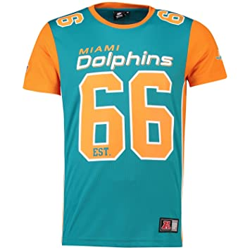 11bee3522 Majestic T-Shirt - NFL Miami Dolphins Dene Poly Mesh Turquoise ...