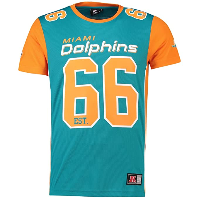 Majestic Camiseta NFL Miami Dolphins Dene Poly Mesh Turquesa/Naranja Talla: S (Small): Amazon.es: Ropa y accesorios