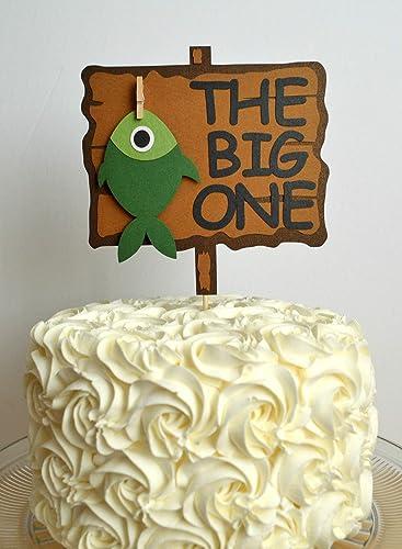 Amazon The Big One Fishing First Birthday Cake Topper Handmade