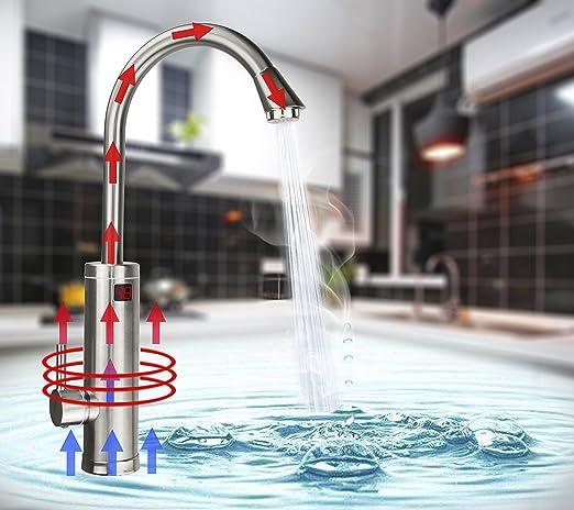 Elektrischer Wasserhahn Durchlauferhitzer   TopSer ALA EF 01 Pro 360 Grad  Schwenkbare Heiß   Und Kalt Elektroheizung Warmwasserbereiter Mit ...