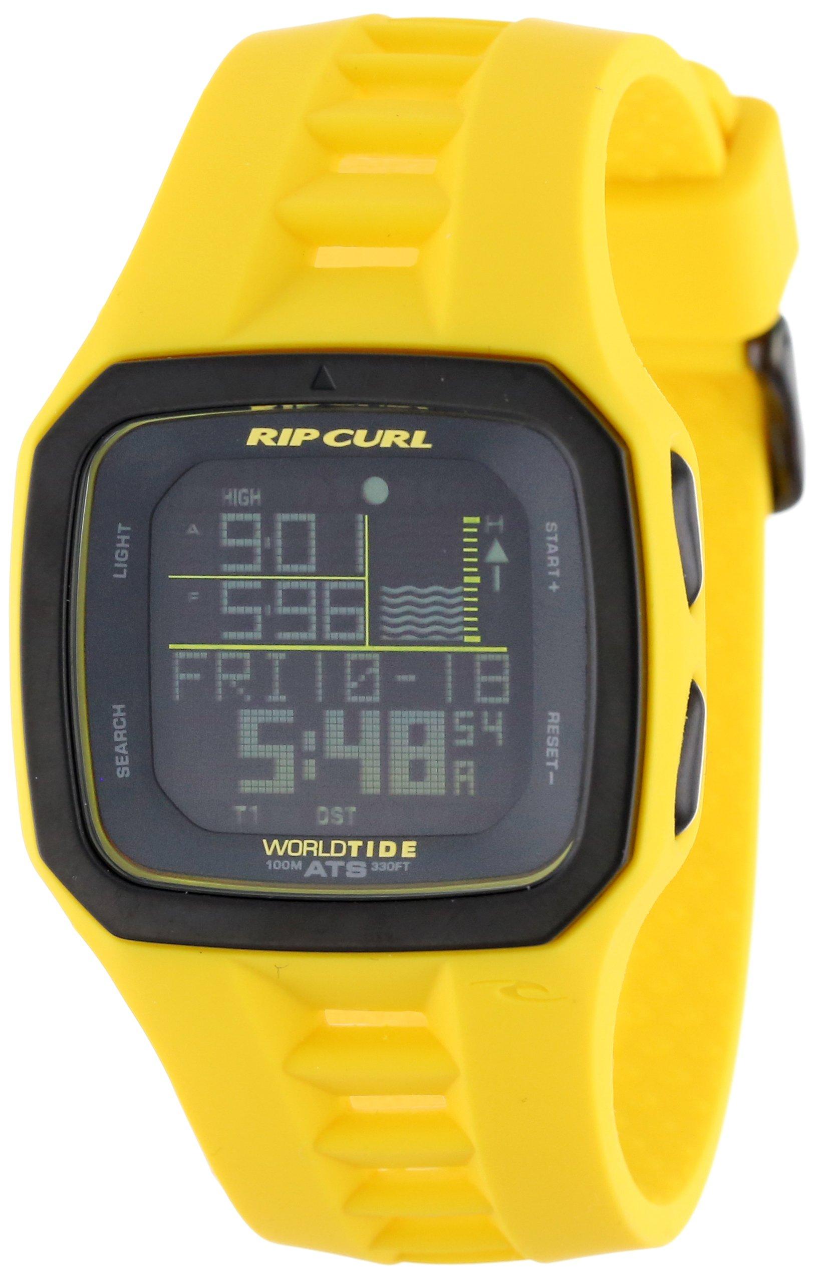 Rip Curl Men's A1090 - FLY Trestles Pro World Tide Fluorescent Yellow Digital Tide Surf Watch