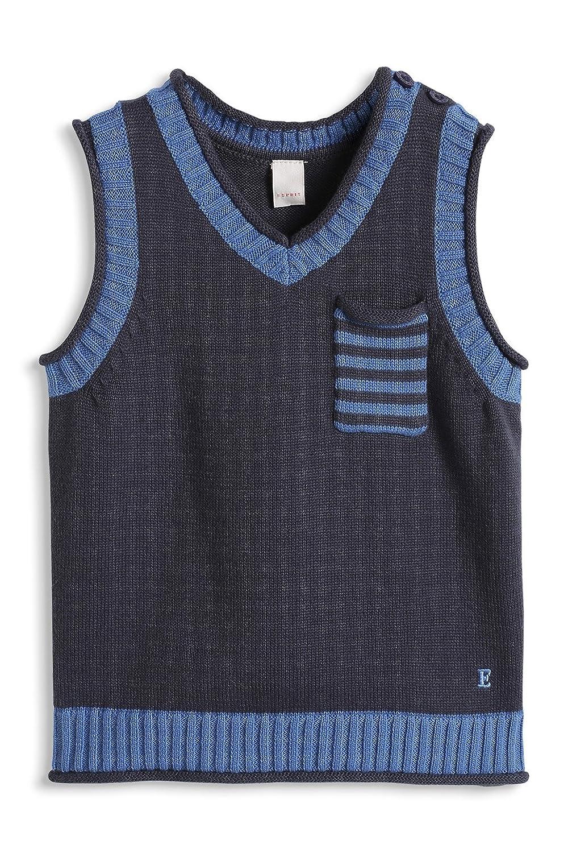 Esprit Baby Jungen Pullover Pullunder, Gr. 68, Blau (Blue