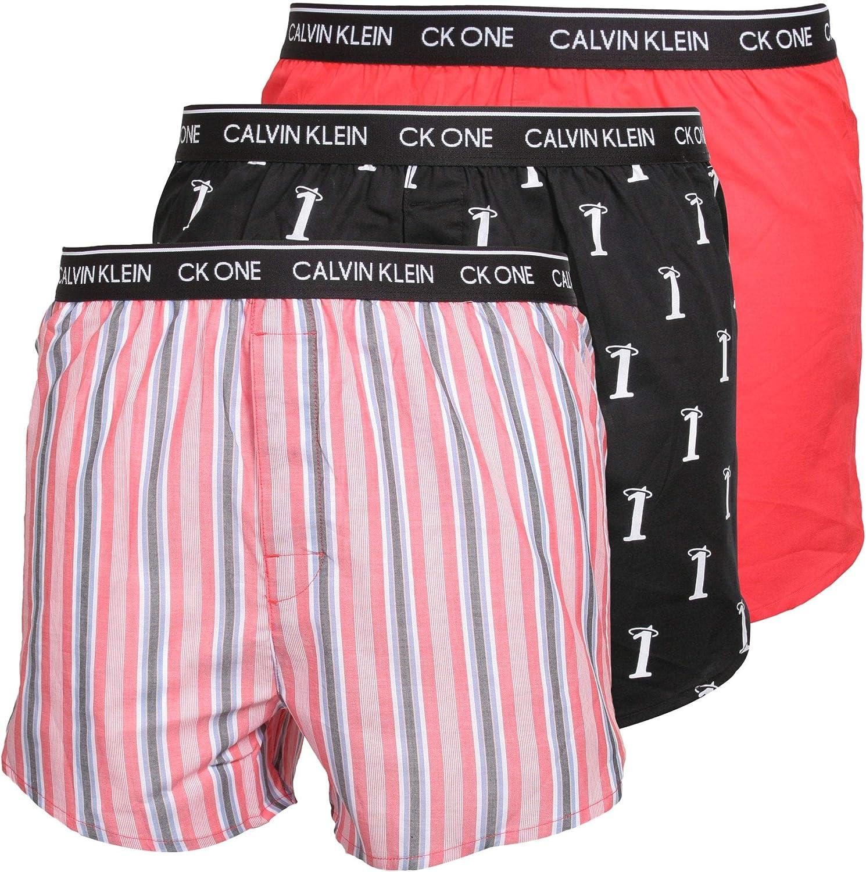 Calvin Klein CK One Slim Fit - Pack de 3 bóxers - Numero 1/Adrenaline Rush/Variedad de rayas: Amazon.es: Ropa y accesorios