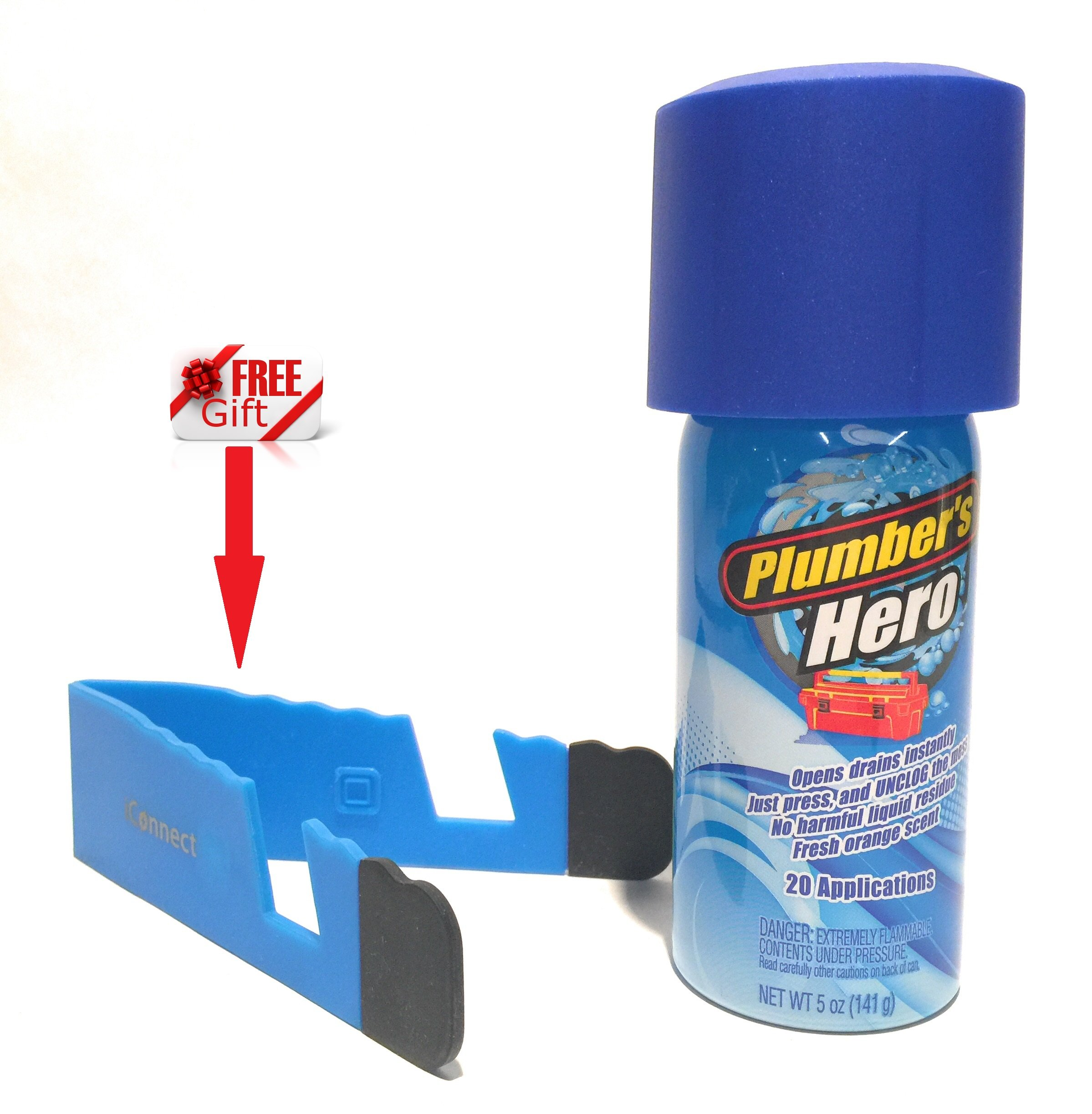 Plumbers Hero REFILL - Unclog Drains Instantly - 20 Uses in Every Can