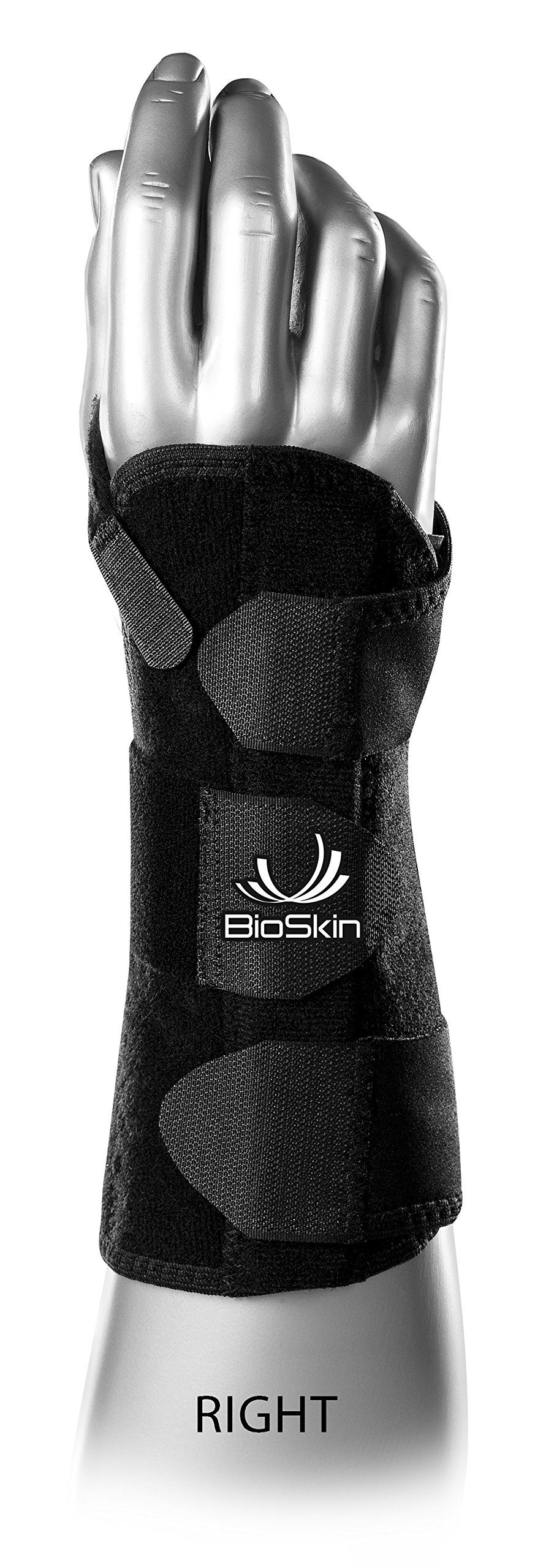 BioSkin DP3 8-Inch Wrist Brace - Hypoallergenic Support for Carpal Tunnel, Tendonitis, and Arthritis Pain (XL-XXL) Right