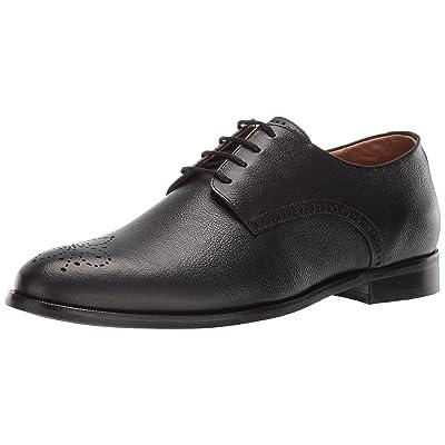 MARC JOSEPH NEW YORK Men's Leather Lace-Up Wingtip Dress Shoe Oxford, Black Brushed Nappa, 11 M US | Oxfords