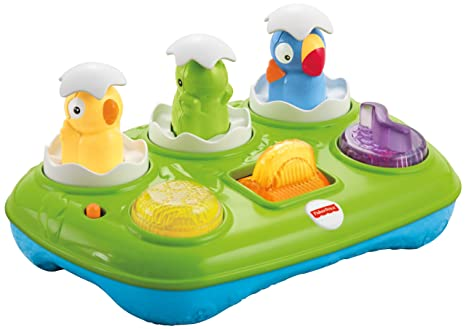 Amazon Com Fisher Price Musical Pop Up Eggs Toys Games