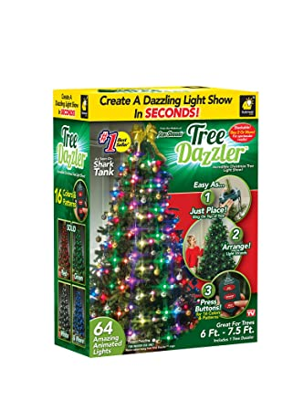 star shower tree dazzler led christmas lights by bulbhead indoor color changing led light show