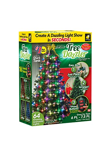 How To Put Lights On A Christmas Tree.Star Shower Tree Dazzler Led Light Show By Bulbhead 16 Light Patterns