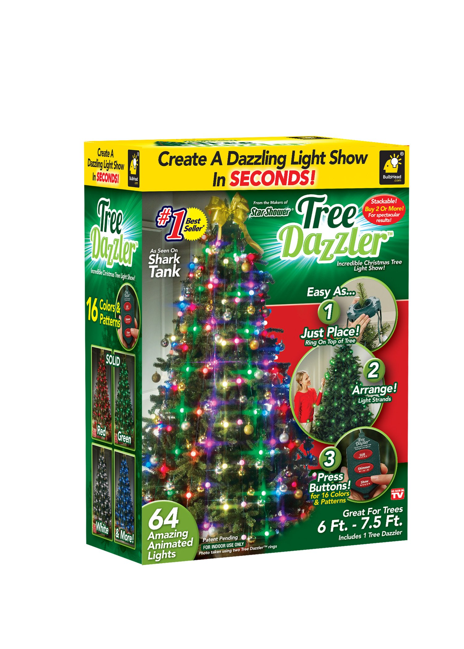 Star Shower Tree Dazzler LED Light Show by BulbHead