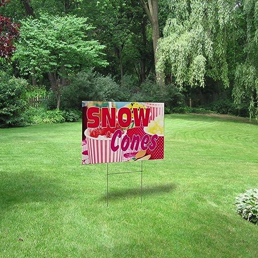 Snow Cones #1 Outdoor Lawn Decoration Corrugated Plastic Yard Sign