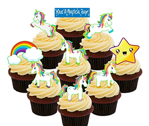 Made4You Unicorns Party Pack, Decoraciones comestibles para Tartas ...