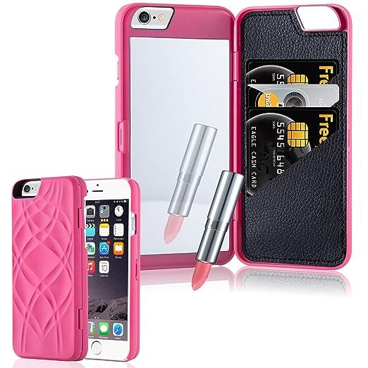 5 opinioni per Cadorabo- Hard Cover per Apple iPhone 6 / 6S / 6G con Motivo, Specchio e 3 Vani