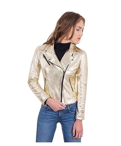 hot sale online 44d99 853e7 D'Arienzo - KBC • Colore Oro • Giacca Biker in Pelle Biker ...