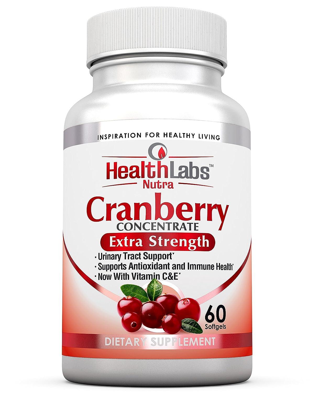 Health Labs Nutra 50:1 Concentrado triple de arándano (Cranberry Concentrate) con vitaminas C & E - Promueve el soporte al tracto urinario y el soporte ...