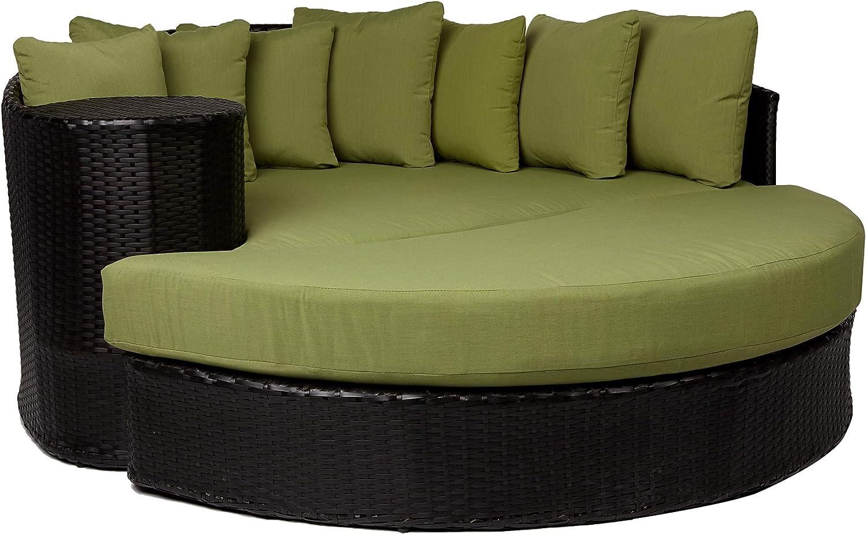 TK Classics Cilantro Newport Circular Sun Bed Outdoor Wicker Patio Furniture