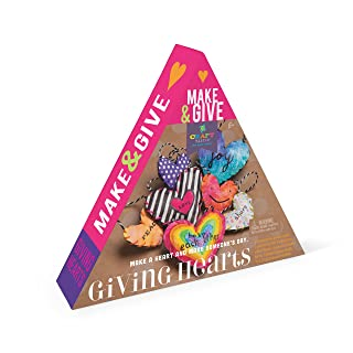 Craft-tastic - Make and Give Giving Hearts - Craft Kit Includes 7 Small Hearts to Decorate & Share