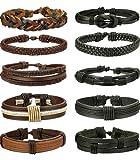 Amazon Price History for:FIBO STEEL 3-10 Pcs Braided Leather Bracelets for Men Women Woven Cuff Bracelet Adjustable