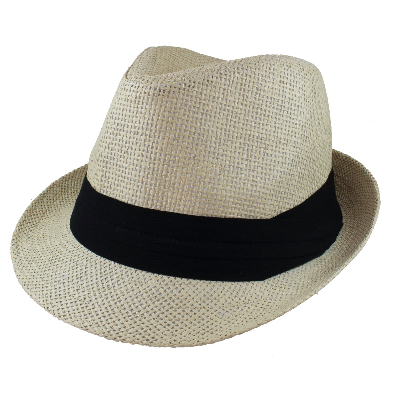c9c88152 Online Cheap wholesale Gelante Summer Fedora Panama Straw Hats with Black  Band Hats & Caps Suppliers