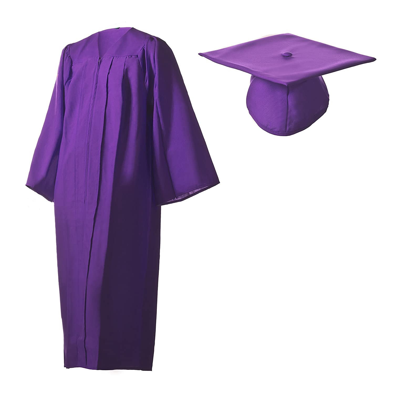 71f7d8503b1 Amazon.com  Graduation Cap and Gown Set Matte Purple in Multiple Sizes   Sports   Outdoors