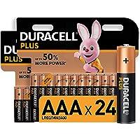 Duracell Plus AAA - Pilas Alcalinas Paquete de 24, 1.5 Voltios LR03 MN2400