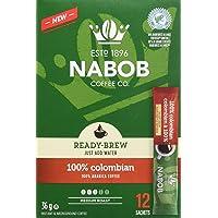 Nabob 100% Colombian Ready-Brew Coffee, 12 Sachets