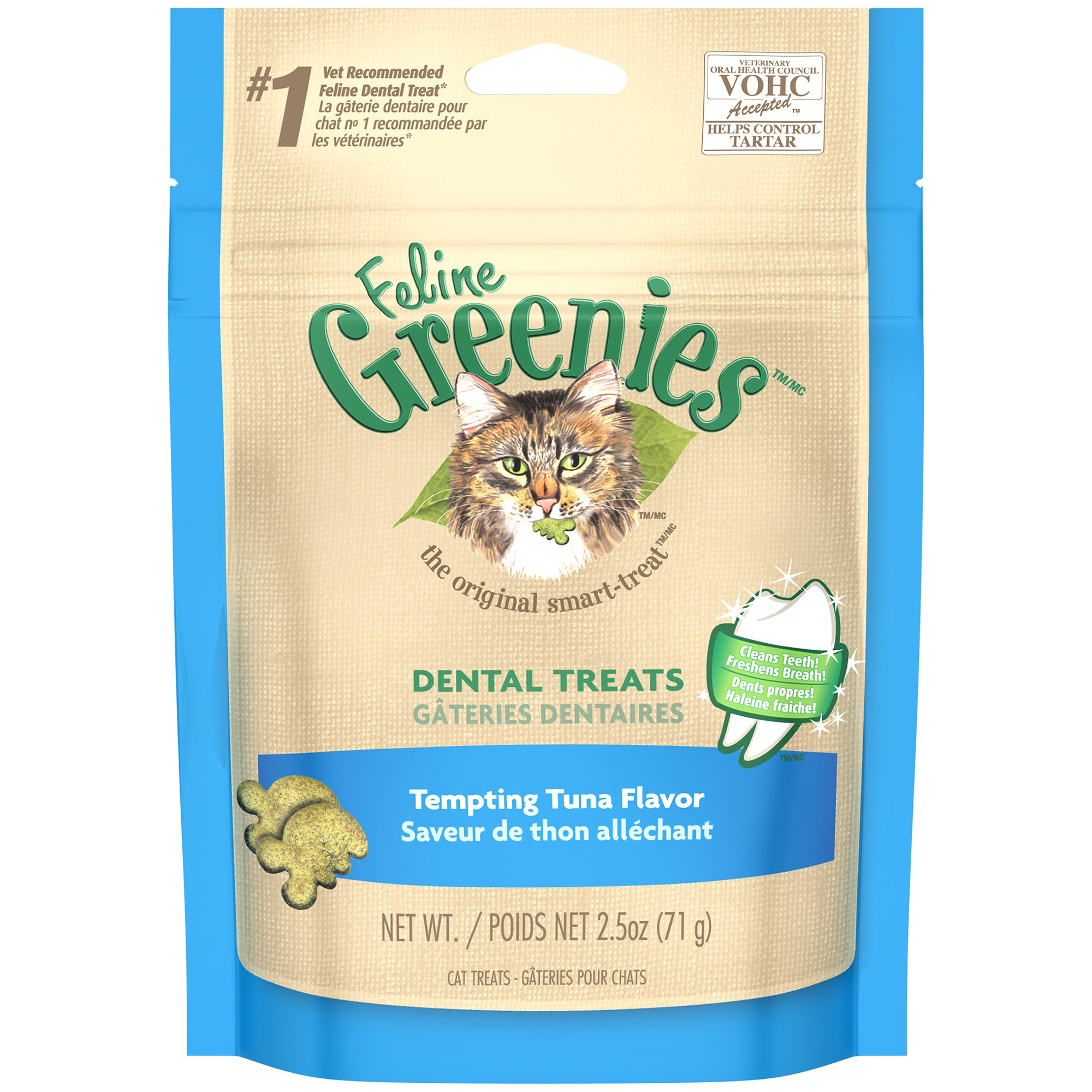 Feline GREENIES Dental Cat Treats Tuna 2.5 oz