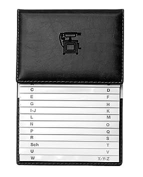 VELOFLEX 5157780 - Agenda telefónica 155 x 225 mm, color negro