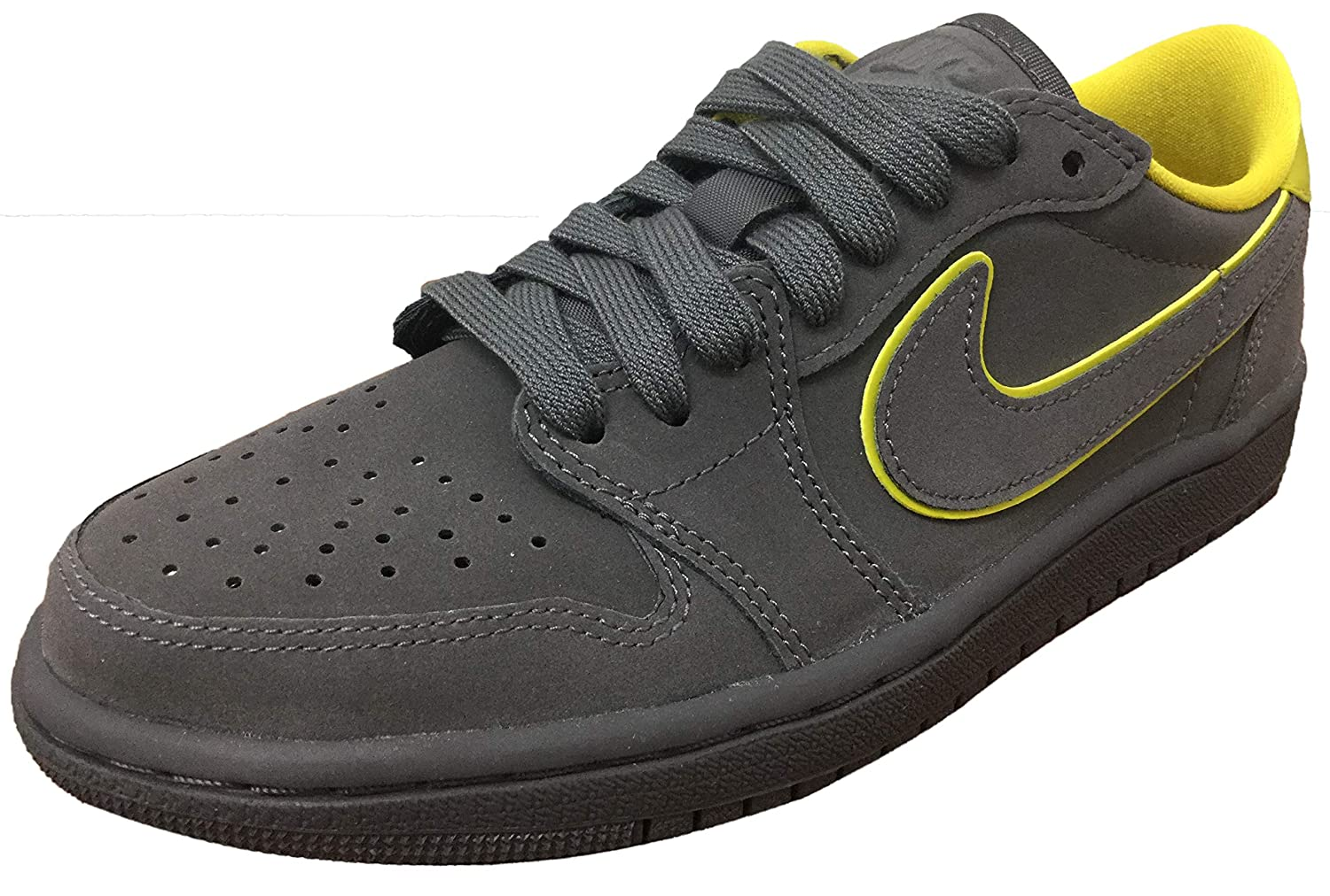 new products 2ab57 9d547 Amazon.com | Air Jordan 1 Retro Low OG Thunder Grey/Bright ...