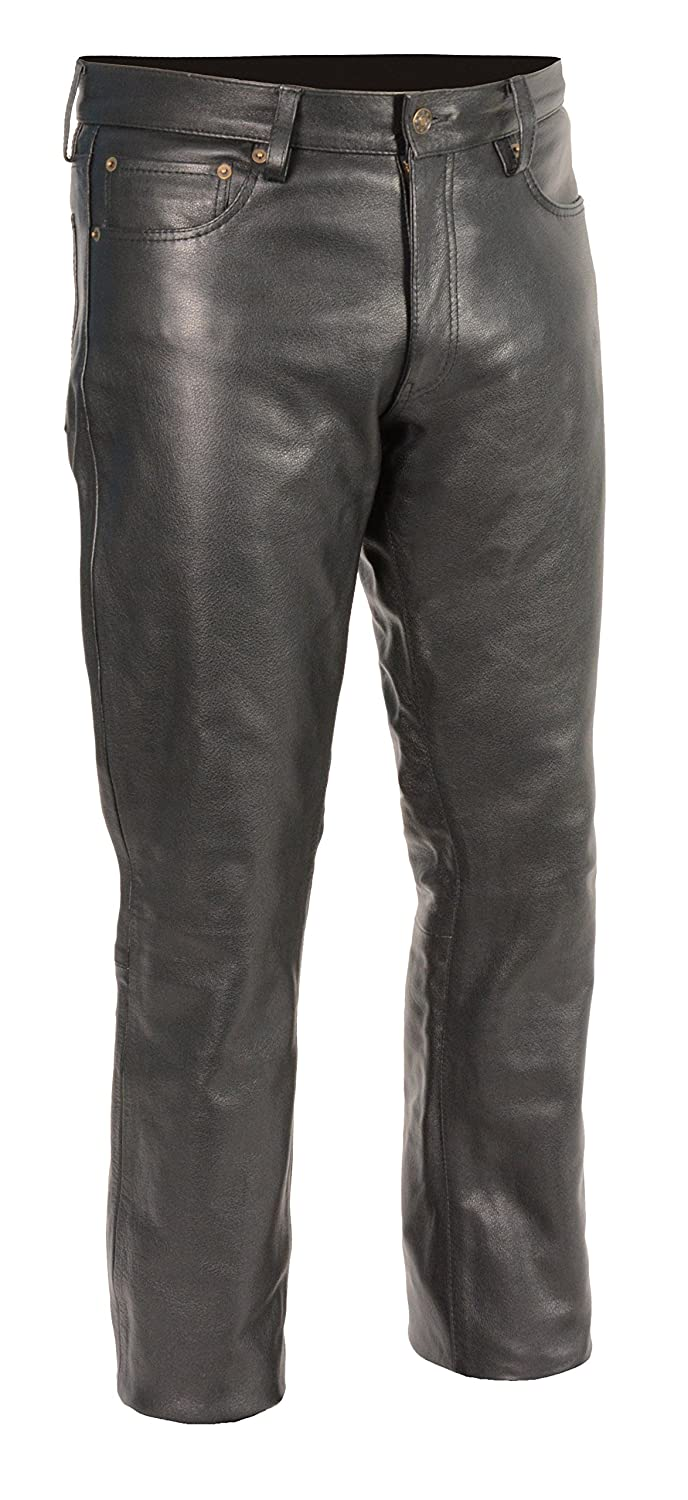 Men's Classic 5-Pocket Leather Pants