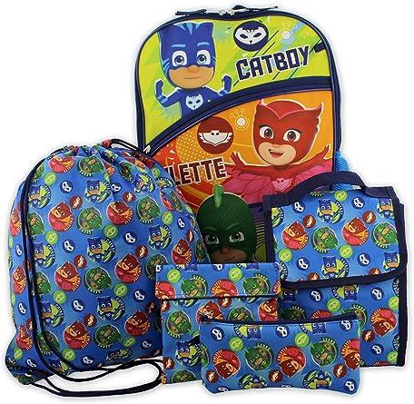 PJ Masks - Bolsa de almuerzo para niños y niñas (5 piezas, 40 ...