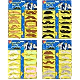Juvale Fake Mustaches, Self-Adhesive Costume Accessories for Halloween (48-Pack)