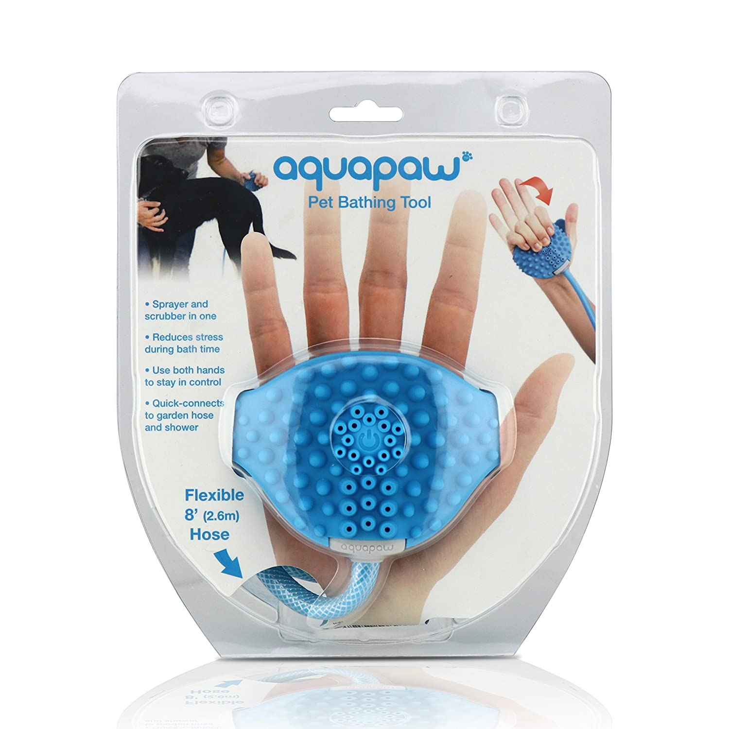 Aquapaw Pet Bathing Tool Pet Shower Sprayer and Scrubber In-One ...