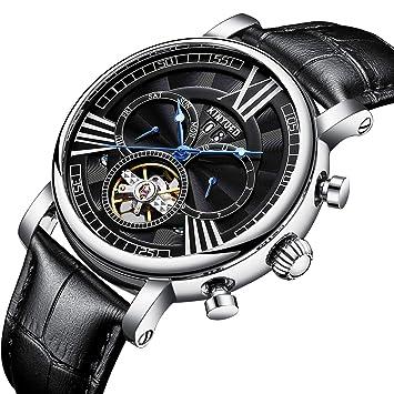 YUNDING Reloj De Negocios, Artículos De Lujo De Alta Gama, Movimiento Mecánico De Tourbillon
