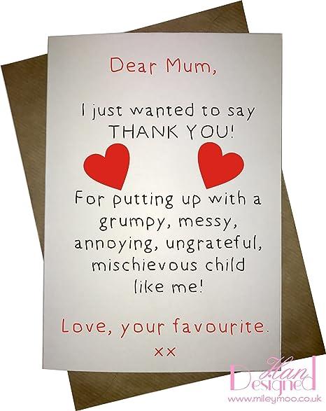 Dear Mum A5 Greetings Card