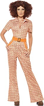 Smiffys Disfraz elegante de los años 70 con traje multicolor, talla ...