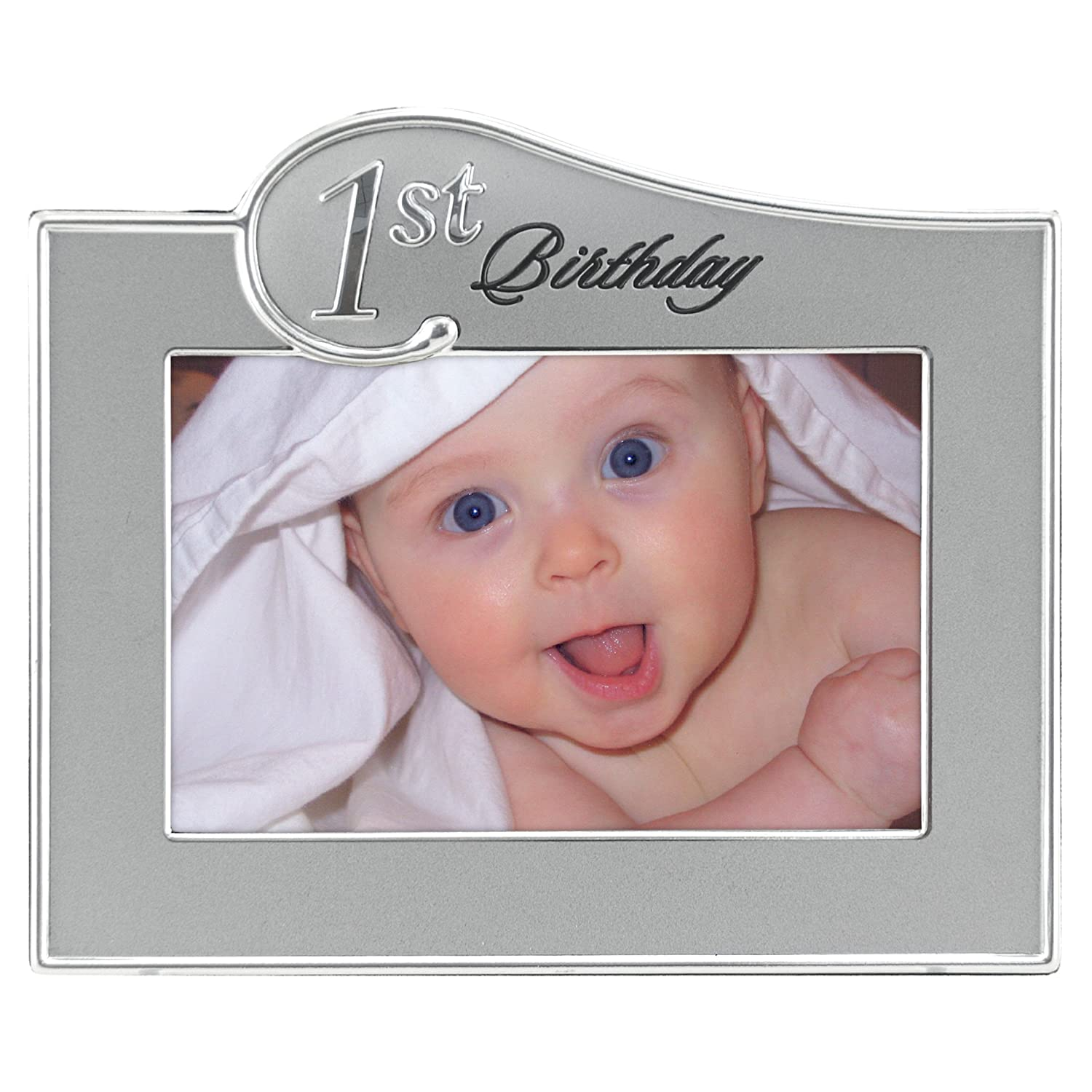 Malden 1st Birthday Two Tone Picture Frame, Sliver Malden International 5210-46