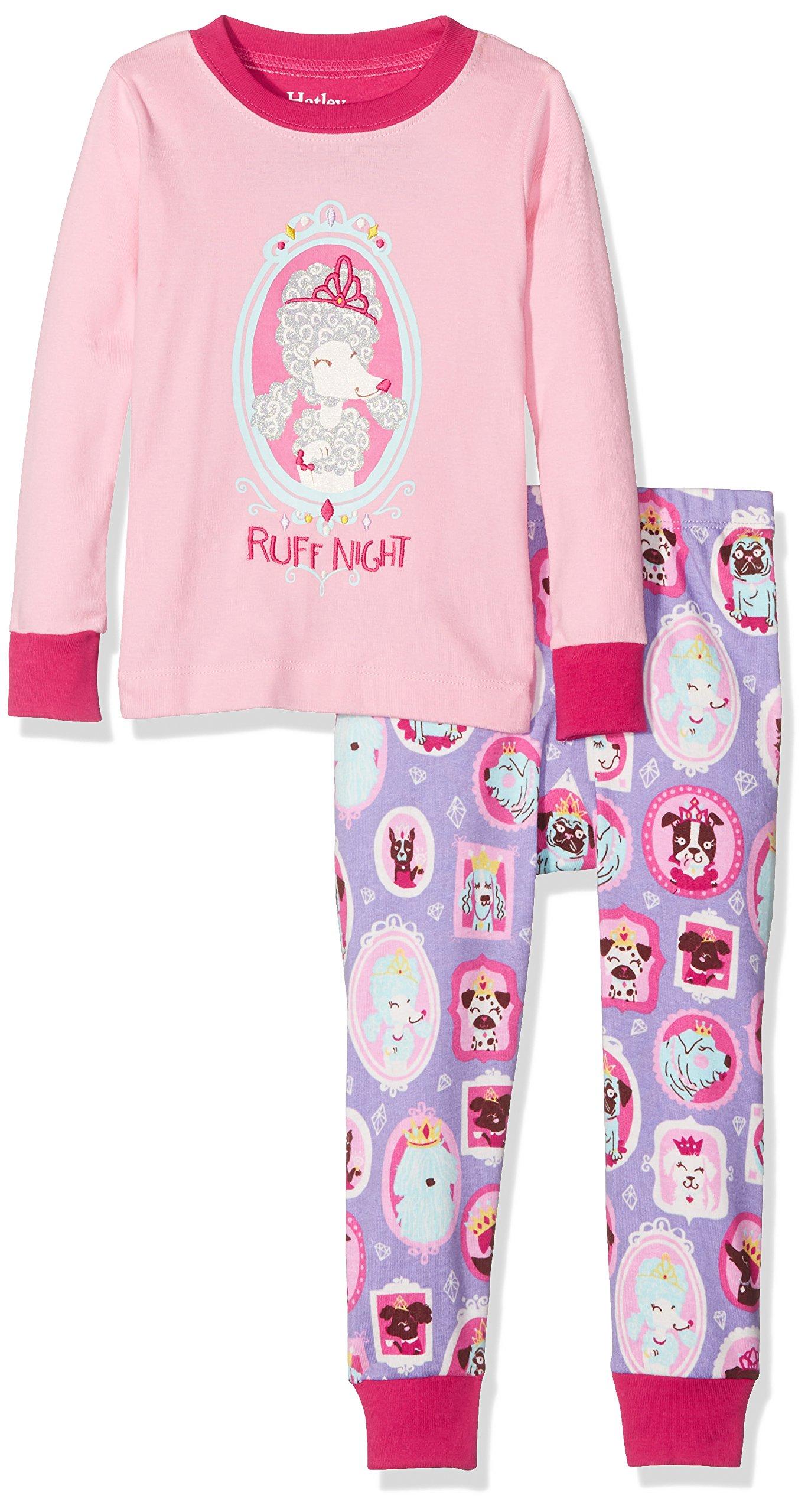 Hatley Kids Baby Girl's Princess Pups Ruff Night PJ Set (Toddler/Little Kids/Big Kids) Pink 5 by Hatley (Image #1)