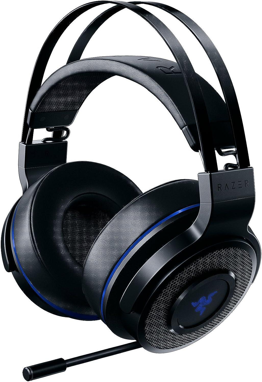 Razer Thresher 7.1 - Auriculares gamer inalámbricos para PlayStation 4 y PC, con Dolby Headphone, con sonido envolvente 7.1 & Brazo de micrófono retráctil, negro