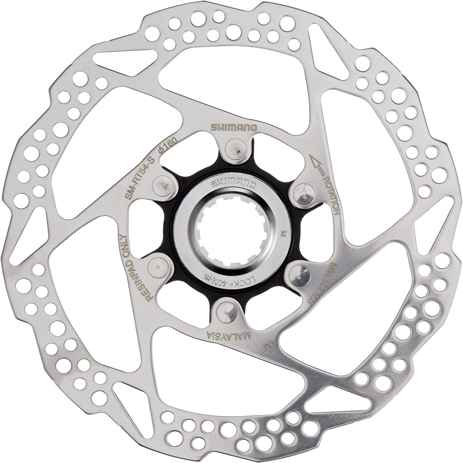 For bicycle Deore MTB Cycling SLX SM RT54 S Disc Brake Rotor Centerlock 160mm