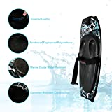 SereneLife Water Sport Kneeboard with Hook For Kids & Adults, Kneeboard with Strap for Boating, Waterboarding, Kneeling Boogie Boarding, Knee