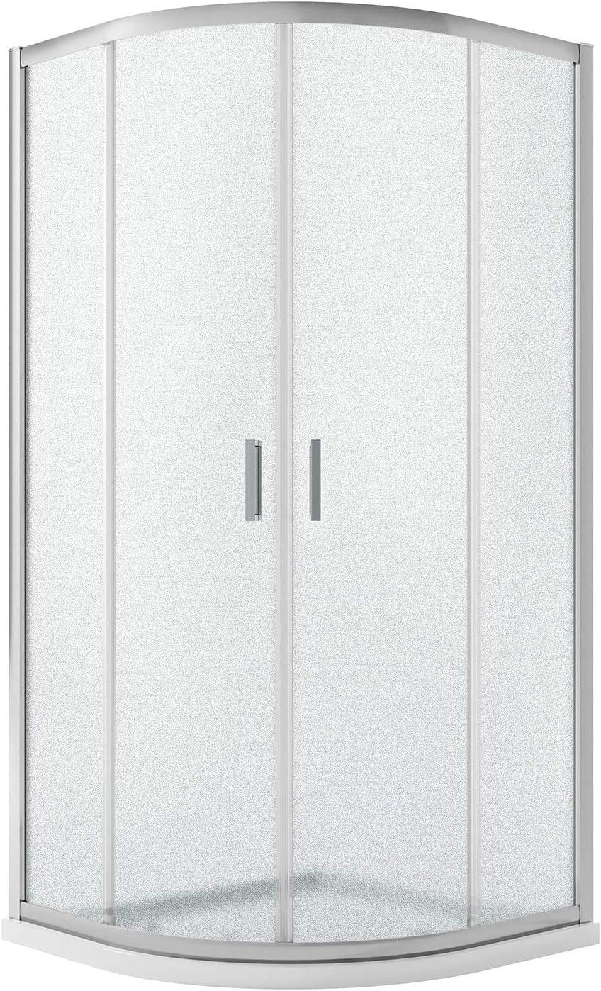 Idralite Box Mampara de Ducha Semicircular 80x80 H185 Impreso C ...