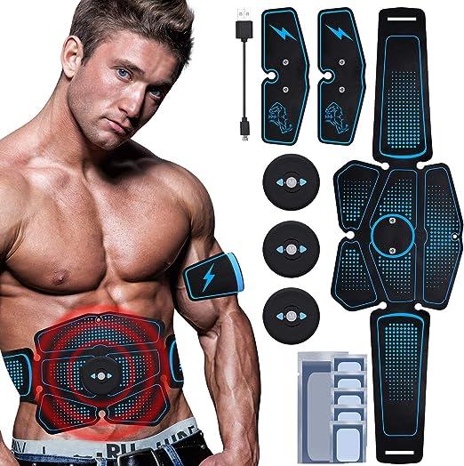 Stimolatore Muscolare Massager EMS Addominali Trainer per Addome//Braccio//Vita//Gambe Home Gym Rutibo Elettrostimolatore per Addominali Elettrostimolatore Muscolare Professionale