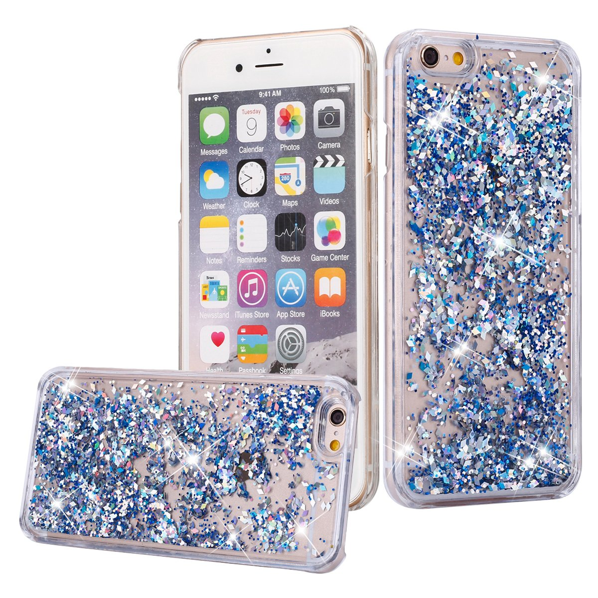 100% authentic 7da80 19d9a Amazon.com: iPhone 4S Case, iPhone 4 / 4S Liquid Glitter Case,Phezen ...
