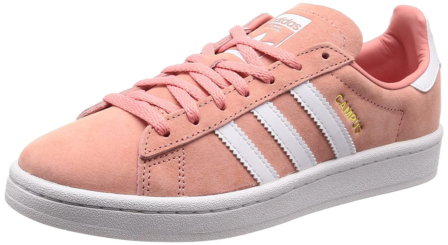 adidas Damen Campus W Gymnastikschuhe  37 1/3 EU|Pink (Tactile Rose F17/Ftwr White/Crystal White Tactile Rose F17/Ftwr White/Crystal White)