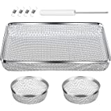 TOODOO 3 Pack Flying Insect Screen RV Furnace Vent Cover (2.8 Inch)(8.5 x 6 Inch) Stainless Steel Mesh with Installation…