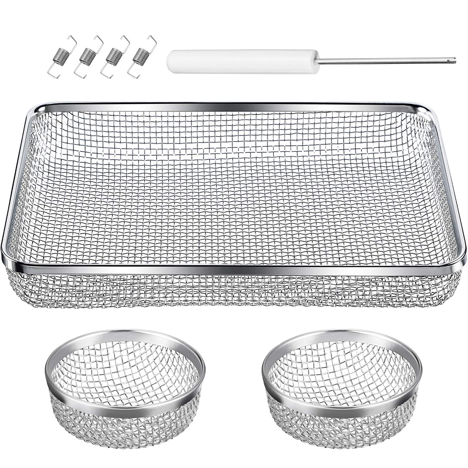 TOODOO 3 Pack Flying Insect Screen RV Furnace Vent Cover (2.8 Inch)(8.5 x 6 Inch) Stainless Steel Mesh with Installation Tool by TOODOO