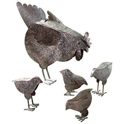 VERDUGO GIFT 31170 Mother Hen & Chicks Country Garden Sculpture Set : Chicken : Garden & Outdoor