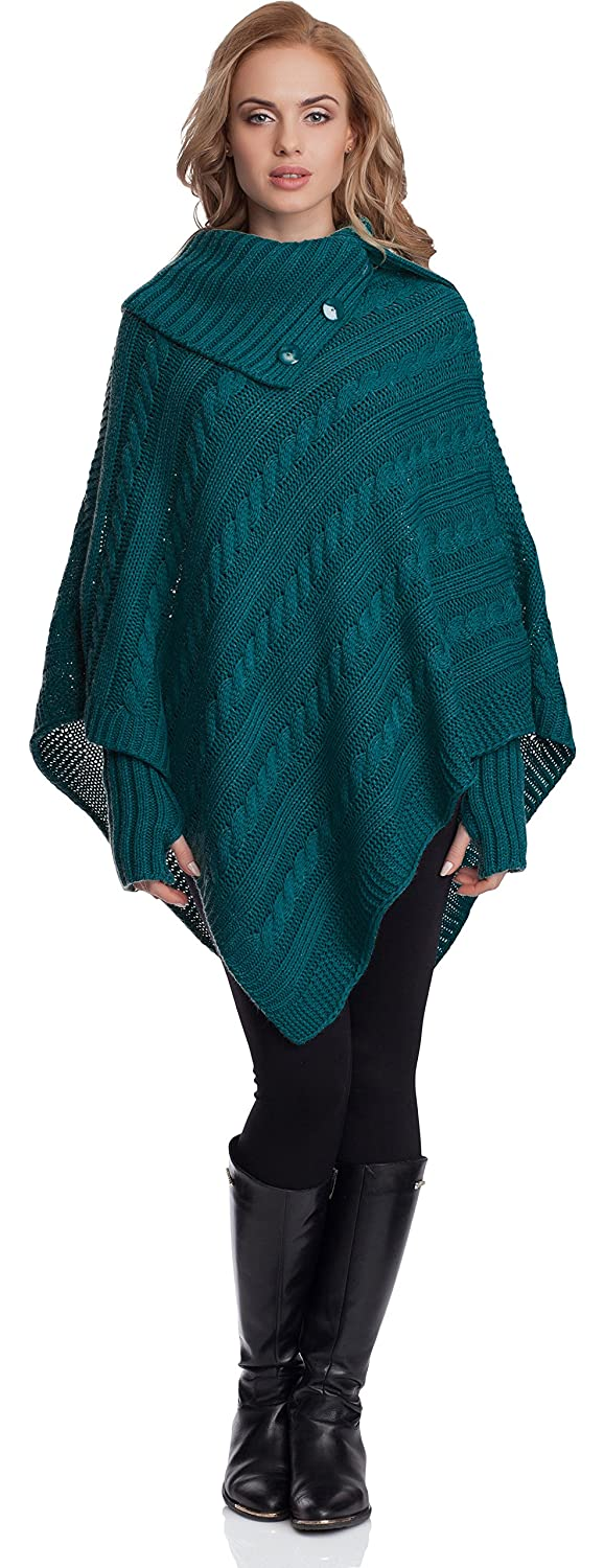Merry Style Women's Poncho N4293 One Size)